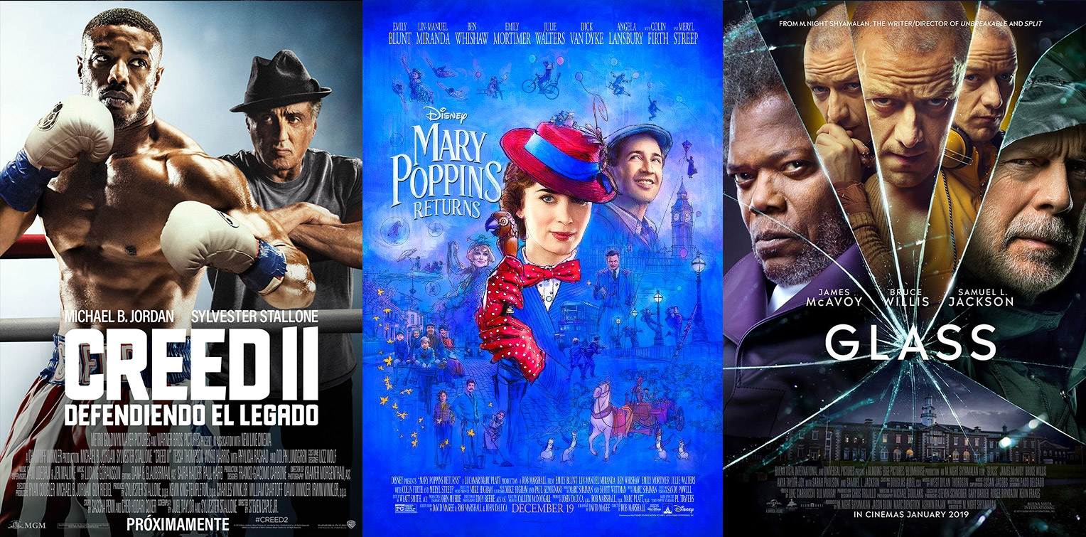 "Si diez años después te vuelvo a encontrar… ""Glass"", ""Creed 2"" y ""Mary Poppins Return"""